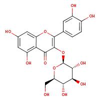 quercetin 3-O-beta-D-glucopyranoside (CHEBI:68352)
