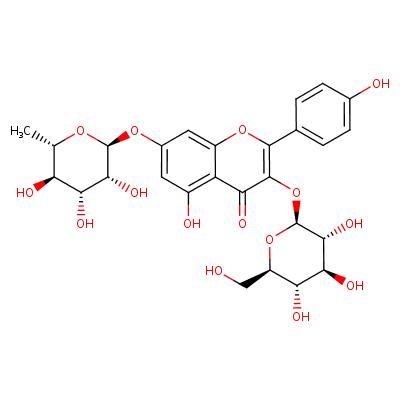 kaempferol 3-O-beta-D-glucopyranosyl-7-O-alpha-L