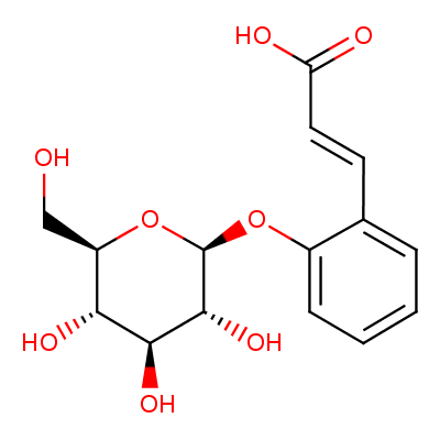 trans-beta-D-glucosyl-2-hydroxycinnamic acid (CHEBI:17531)