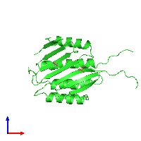 PDB 1914 coloured by chain and viewed from the front.