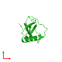 PDB 1a67 coloured by chain and viewed from the top.