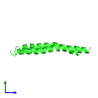 PDB 1a91 coloured by chain and viewed from the side.