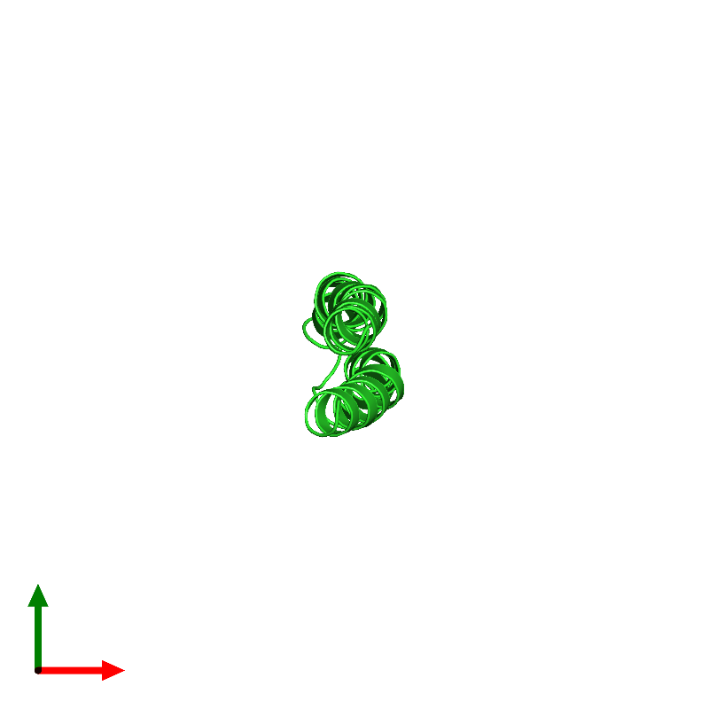 <div class='caption-body'><ul class ='image_legend_ul'>The deposited structure of PDB entry 1a91 coloured by chain and viewed from the top. The entry contains: <li class ='image_legend_li'>1 copy of F1FO ATPASE SUBUNIT C</li><li class ='image_legend_li'>There are no non-polymeric molecules</li></ul></li></ul></li></div>