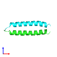 PDB 1a93 coloured by chain and viewed from the front.