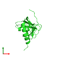 PDB 1agi coloured by chain and viewed from the top.