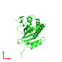 PDB 1ah6 coloured by chain and viewed from the top.