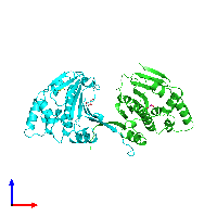 PDB 1ah8 coloured by chain and viewed from the front.