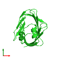 PDB 1alb coloured by chain and viewed from the top.