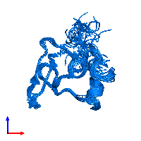 PDB 1apj contains 1 copy of FIBRILLIN in assembly 1. This protein is highlighted and viewed from the front.