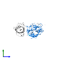 PDB 1avg contains 1 copy of Thrombin heavy chain in assembly 1. This protein is highlighted and viewed from the side.