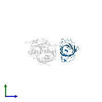 PDB 1avg contains 1 copy of Triabin in assembly 1. This protein is highlighted and viewed from the side.