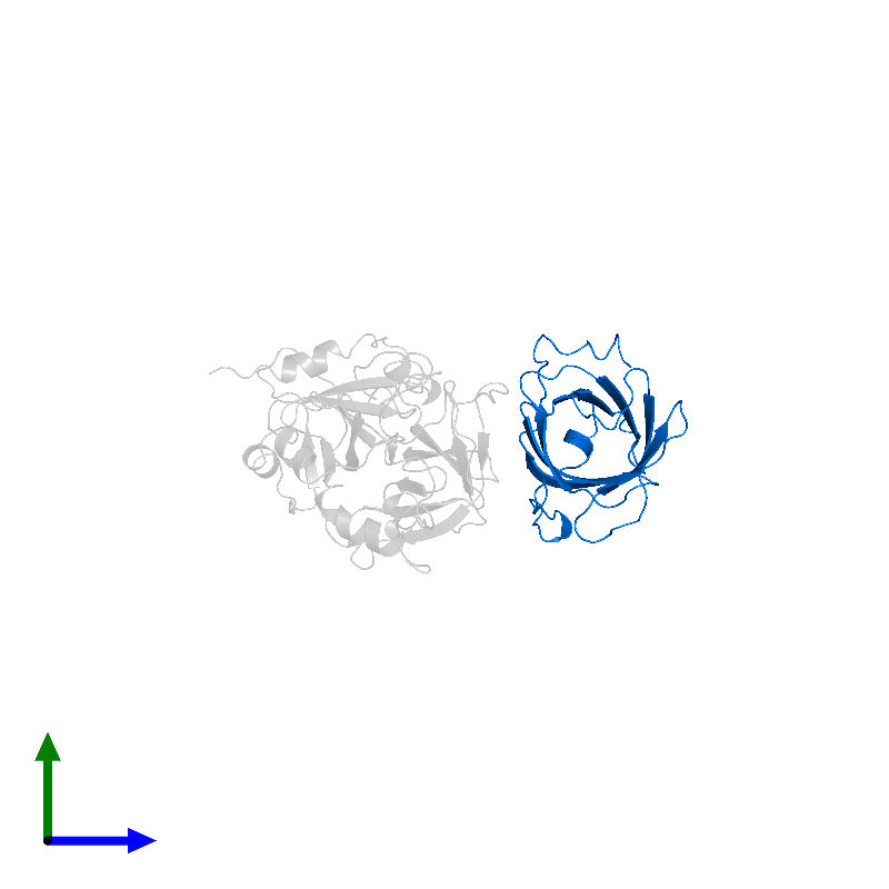 <div class='caption-body'>PDB entry 1avg contains 1 copy of Triabin in assembly 1. This protein is highlighted and viewed from the side.</div>