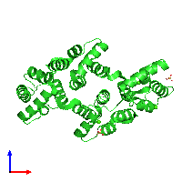 PDB 1avr coloured by chain and viewed from the front.