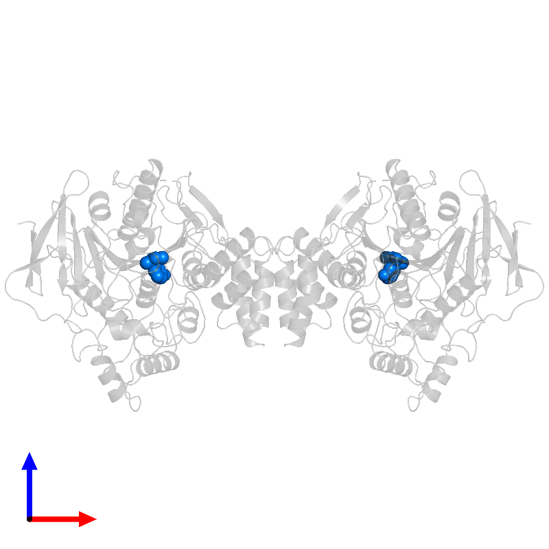 <div class='caption-body'>PDB entry 1ax9 contains 1 copy of EDROPHONIUM ION in assembly 1. This small molecule is highlighted and viewed from the front.</div>