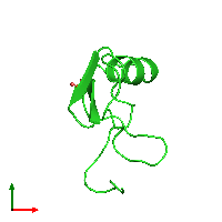 PDB 1b7d coloured by chain and viewed from the top.