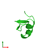 PDB 1bah coloured by chain and viewed from the top.