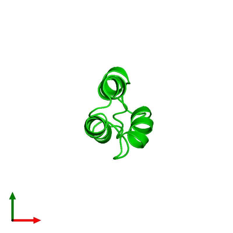 <div class='caption-body'><ul class ='image_legend_ul'>The deposited structure of PDB entry 1bdd coloured by chemically distinct molecules and viewed from the top. The entry contains: <li class ='image_legend_li'>1 copy of Immunoglobulin G-binding protein A</li><li class ='image_legend_li'>There are no non-polymeric molecules</li></ul></li></ul></li></div>