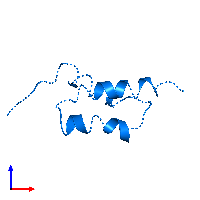 PDB 1bdd contains 1 copy of Immunoglobulin G-binding protein A in assembly 1. This protein is highlighted and viewed from the front.