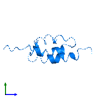 PDB 1bdd contains 1 copy of Immunoglobulin G-binding protein A in assembly 1. This protein is highlighted and viewed from the side.