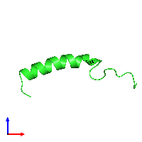 PDB 1bm4 coloured by chain and viewed from the front.