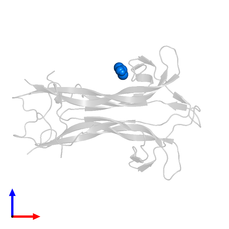<div class='caption-body'>PDB entry 1bnd contains 1 copy of ISOPROPYL ALCOHOL in assembly 2. This small molecule is highlighted and viewed from the front.</div>