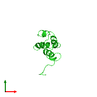 PDB 1bno coloured by chain and viewed from the top.