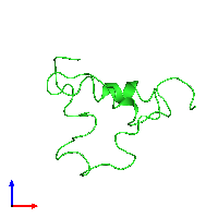 PDB 1bqt coloured by chain and viewed from the front.