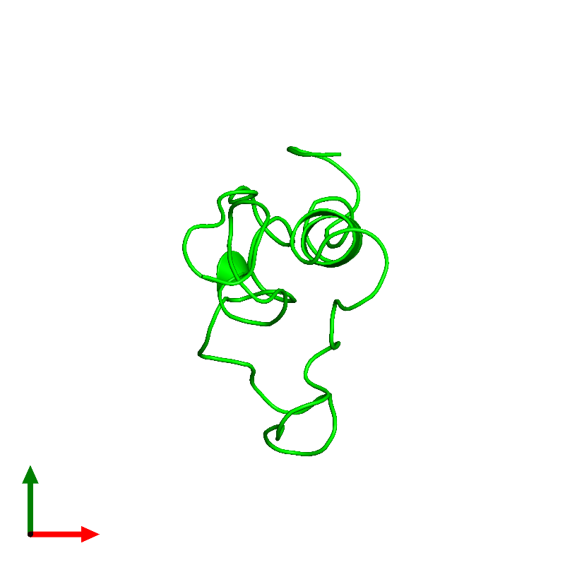 <div class='caption-body'><ul class ='image_legend_ul'>The deposited structure of PDB entry 1bqt coloured by chemically distinct molecules and viewed from the top. The entry contains: <li class ='image_legend_li'>1 copy of Insulin-like growth factor I</li><li class ='image_legend_li'>There are no non-polymeric molecules</li></ul></li></ul></li></div>