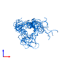 PDB 1bqt contains 1 copy of Insulin-like growth factor I in assembly 1. This protein is highlighted and viewed from the front.