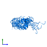 PDB 1bqt contains 1 copy of Insulin-like growth factor I in assembly 1. This protein is highlighted and viewed from the side.