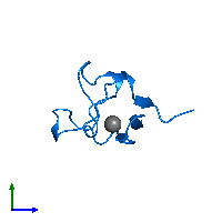 PDB 1brf contains 1 copy of Rubredoxin in assembly 1. This protein is highlighted and viewed from the side.