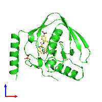 PDB 1bsj coloured by chain and viewed from the front.