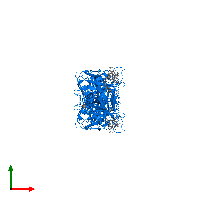 PDB 1bwn contains 4 copies of Tyrosine-protein kinase BTK in assembly 1. This protein is highlighted and viewed from the top.