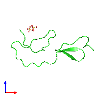 PDB 1bx7 coloured by chain and viewed from the front.