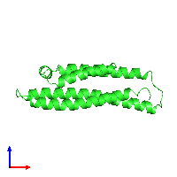 PDB 1bz4 coloured by chain and viewed from the front.