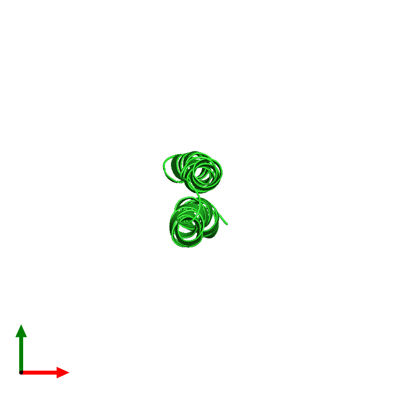 <div class='caption-body'><ul class ='image_legend_ul'>The deposited structure of PDB entry 1c0v coloured by chain and viewed from the top. The entry contains: <li class ='image_legend_li'>1 copy of PROTEIN (F1FO ATPASE SUBUNIT C)</li><li class ='image_legend_li'>There are no non-polymeric molecules</li></ul></li></ul></li></div>