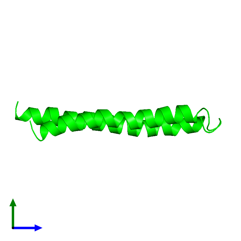 <div class='caption-body'><ul class ='image_legend_ul'>The deposited structure of PDB entry 1c0v coloured by chemically distinct molecules and viewed from the side. The entry contains: <li class ='image_legend_li'>1 copy of PROTEIN (F1FO ATPASE SUBUNIT C)</li><li class ='image_legend_li'>There are no non-polymeric molecules</li></ul></li></ul></li></div>