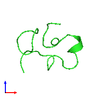 PDB 1c2u coloured by chain and viewed from the front.