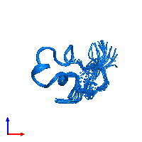 PDB 1c2u contains 1 copy of Kappa-stichotoxin-She3a in assembly 1. This protein is highlighted and viewed from the front.