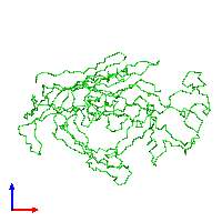 PDB 1c8d coloured by chain and viewed from the front.