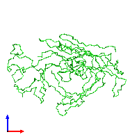 PDB 1c8e coloured by chain and viewed from the front.
