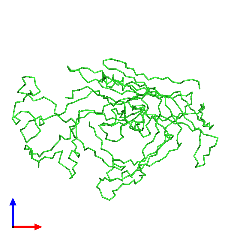 <div class='caption-body'><ul class ='image_legend_ul'>The deposited structure of PDB entry 1c8e coloured by chain and viewed from the front. The entry contains: <li class ='image_legend_li'>1 copy of Capsid protein VP1</li><li class ='image_legend_li'>There are no non-polymeric molecules</li></ul></li></ul></li></div>
