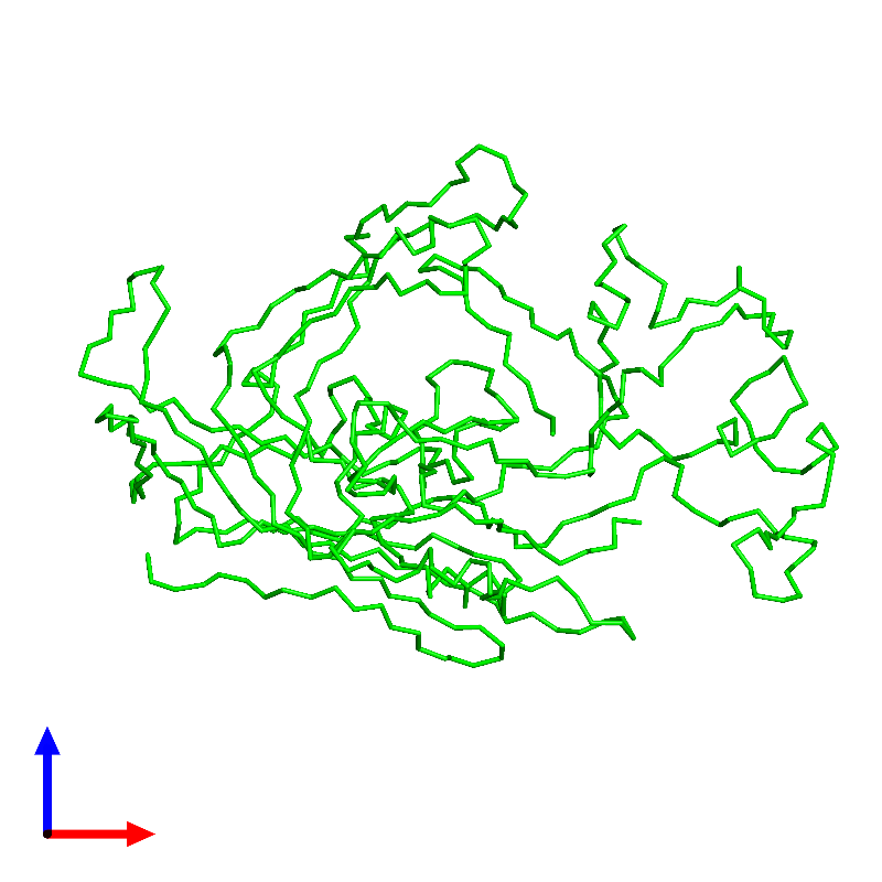 <div class='caption-body'><ul class ='image_legend_ul'>The deposited structure of PDB entry 1c8e coloured by chemically distinct molecules and viewed from the front. The entry contains: <li class ='image_legend_li'>1 copy of Capsid protein VP1</li><li class ='image_legend_li'>There are no non-polymeric molecules</li></ul></li></ul></li></div>