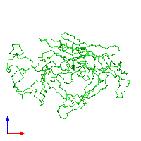 PDB 1c8f coloured by chain and viewed from the front.