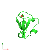 PDB 1caa coloured by chain and viewed from the top.