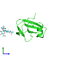 PDB 1cdr coloured by chain and viewed from the side.