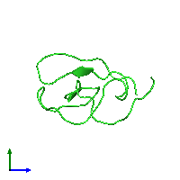 PDB 1ce3 coloured by chain and viewed from the side.
