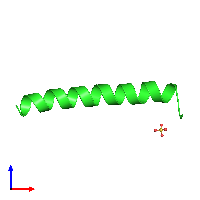 PDB 1coi coloured by chain and viewed from the front.