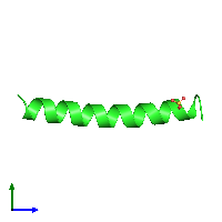 PDB 1coi coloured by chain and viewed from the side.