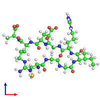 PDB 1cs9 coloured by chain and viewed from the front.